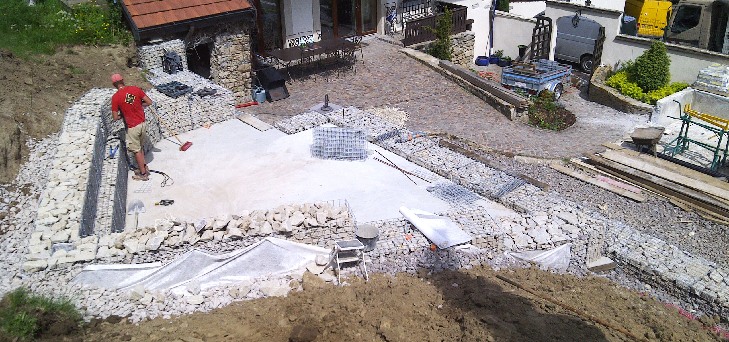 Am nagement ext rieur gabion condevaux for Entreprise amenagement exterieur