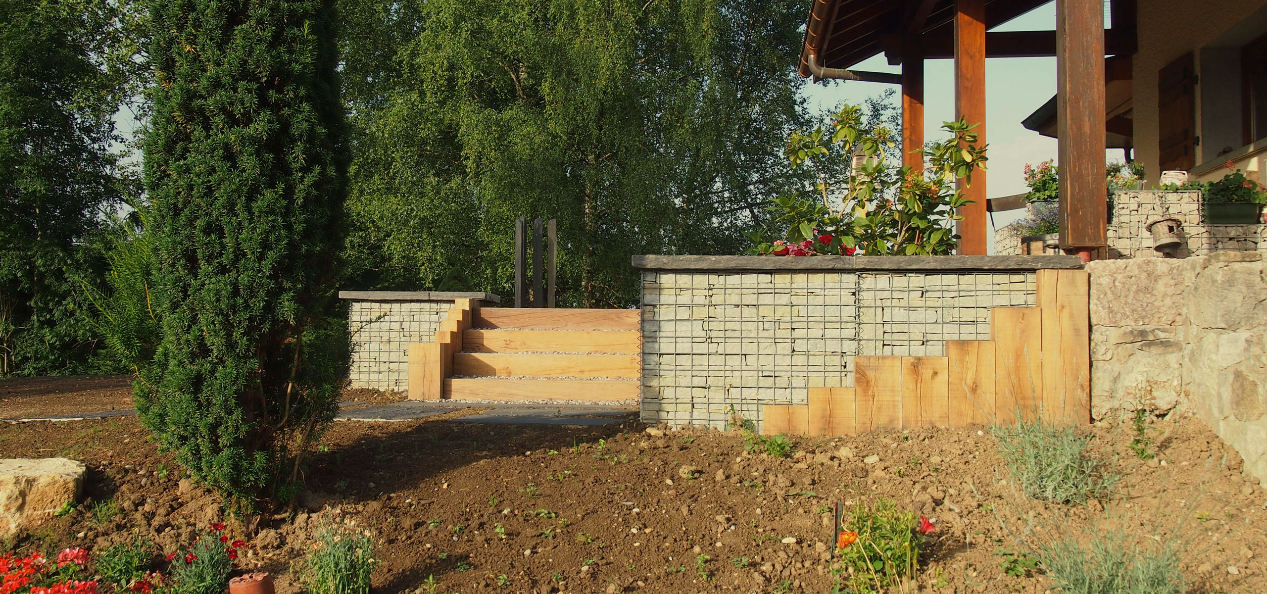 Am nagement ext rieur gabion condevaux for Amenagement exterieur 3d